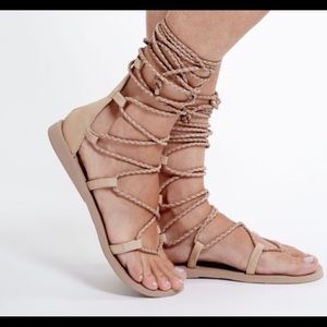 NWOT Jeffrey Campbell Adios Nude Gladiator Sandals